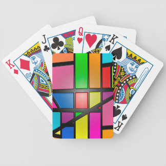 Colorful shiny Tiles Bicycle Playing Cards