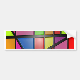 Colorful shiny Tiles Bumper Sticker