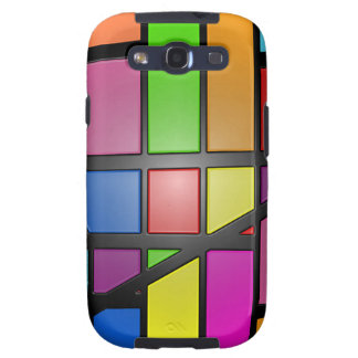 Colorful shiny Tiles Galaxy SIII Covers