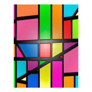 Colorful shiny Tiles Letterhead