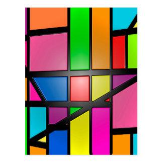 Colorful shiny Tiles Postcard