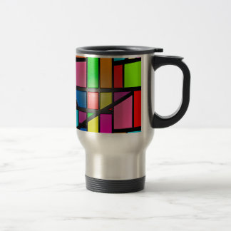 Colorful shiny Tiles Travel Mug