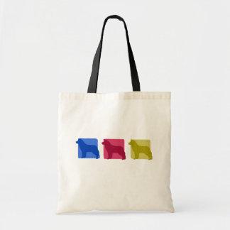 Colorful Siberian Husky Silhouettes Bag