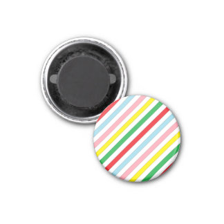 Colorful Sideway Lines Magnet