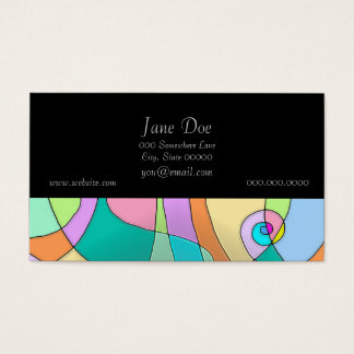 Colorful Simulated Stained Glass in Pastels Business Card