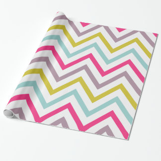 Colorful Skinny Chevron Pattern Wrapping Paper
