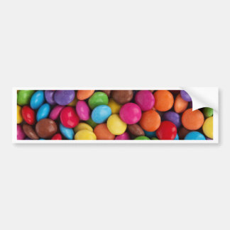 Colorful skittles candy bumper sticker