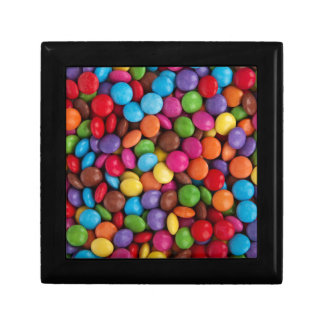Colorful skittles candy gift box