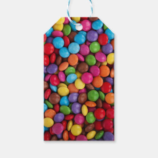 Colorful skittles candy gift tags