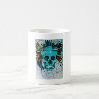 Colorful skull coffee mug