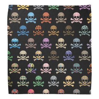 Colorful Skull & Crossbones Bandana