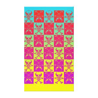 Colorful Skull & Crossbones Canvas Print