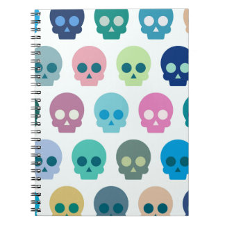 Colorful Skull Cute Pattern Notebooks