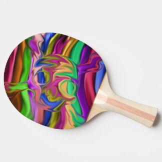 colorful skull head with cross bones ping pong paddle