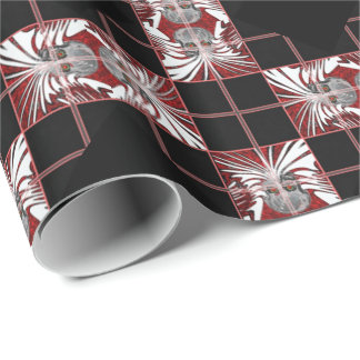 Colorful  skull pattern wrapping paper