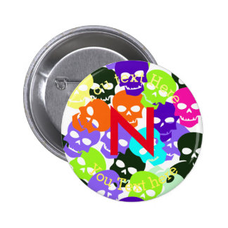 Colorful Skulls 2 Inch Round Button
