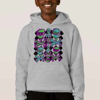 Colorful Skulls and Diamond Print adult sweatshirt