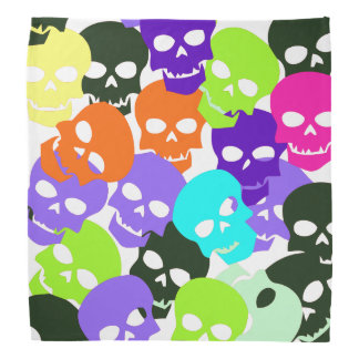 Colorful Skulls Bandannas