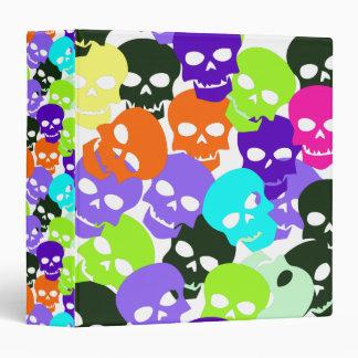 Colorful Skulls Binder