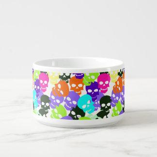 Colorful Skulls Chili Bowl