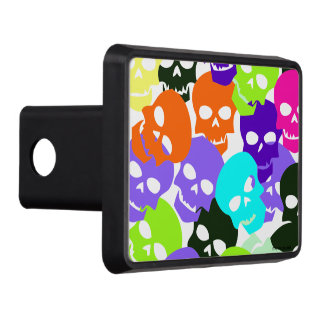 Colorful Skulls Hitch Covers