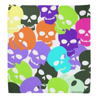 Colorful Skulls Kerchiefs