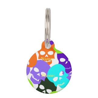 Colorful Skulls Pet ID Tag