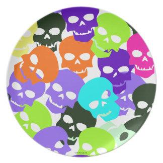 Colorful Skulls Plates