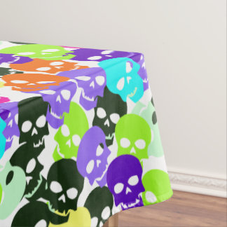 Colorful Skulls Tablecloth