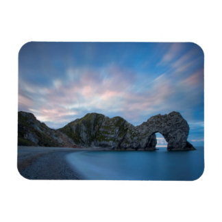 Colorful sky at dawn over Durdle Door Magnet
