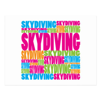 Colorful Skydiving Postcard