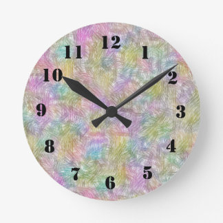 Colorful small lines round clock