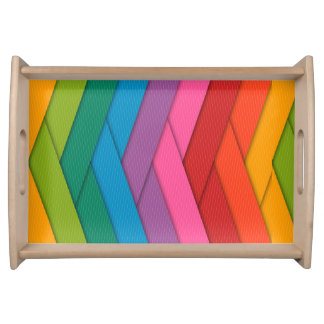 Colorful Small Serving Tray, Natural Serving Tray