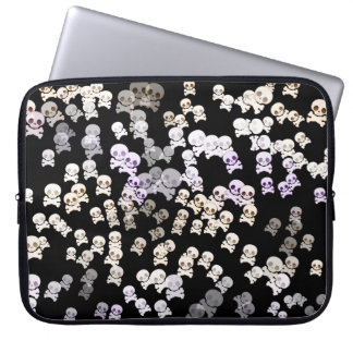 Colorful Small Skull Pattern Laptop Sleeve