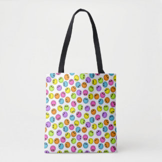 Colorful Smiley Faces Tote Bag