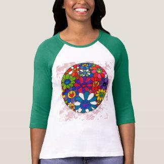 Colorful smiling daisies Women's raglan t-shirt