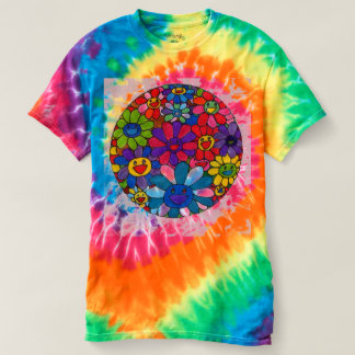 Colorful smiling daisies Women's Tie-Dye T-Shirt