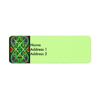 Colorful Snake Celtic Knot Return Address Label