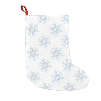 Colorful Snowflake Holiday Small Christmas Stocking