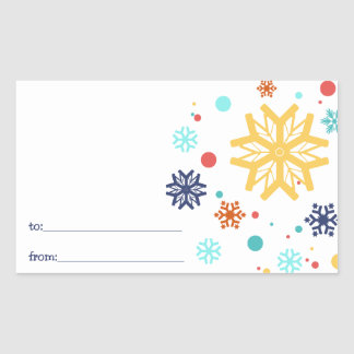 Colorful Snowflakes Christmas Sticker