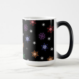 Colorful Snowflakes Holiday Coffee Mug