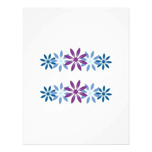 Colorful Snowflakes Personalized Letterhead