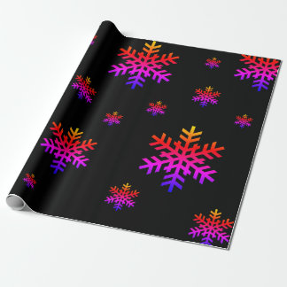 Colorful Snowflakes Matte Wrapping Paper