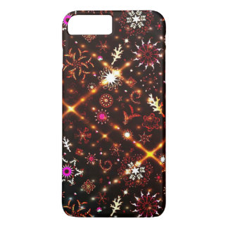 Colorful Snowflakes Ornaments Pattern iPhone 7 Plus Case