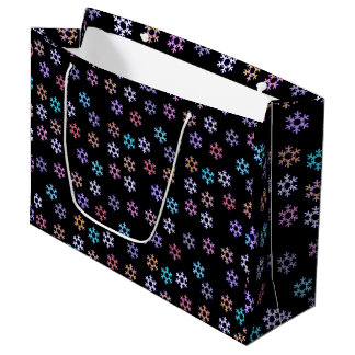 Colorful Snowflakes Pattern Gift Favor Paper Bag