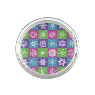 Colorful Snowflakes Ring