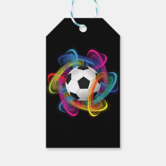 Colorful Soccer Ball Custom Gift Tags