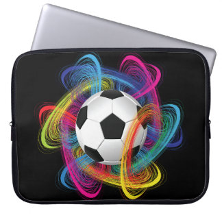 Colorful Soccer Ball Laptop Sleeve