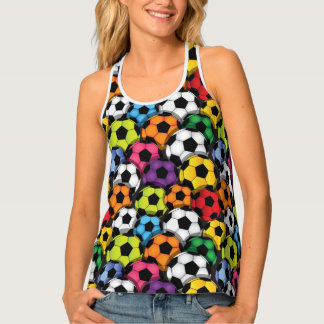 Colorful Soccer Balls Design All-Over Print Shirt