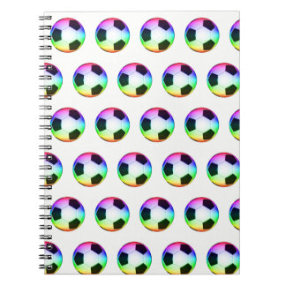 Colorful Soccer Balls Pattern Notebook